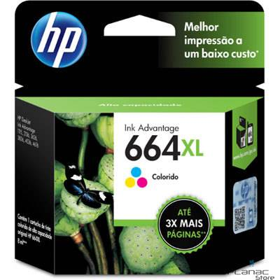 Cartucho de Tinta HP 664XL Color