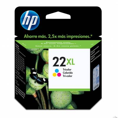 Cartucho Tinta HP 22XL Tricolor Alto Rendimento