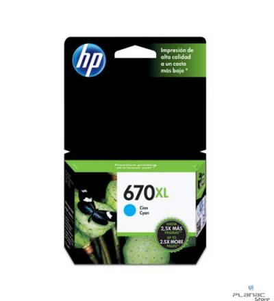 Cartucho Tinta HP 670XL Ciano