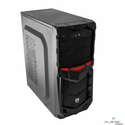Gabinete C3 Tech Gamer MT-G50BK 3B ATX/Micro S/FT - PRETO