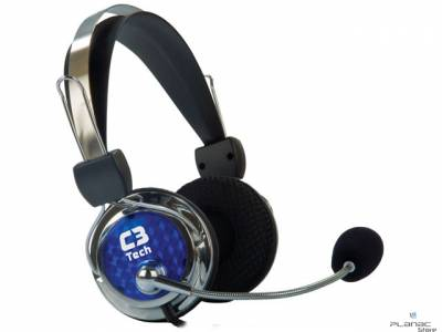 Headset C3 Tech Gamer Pterodax MI-2322RC - AZUL/PRATA
