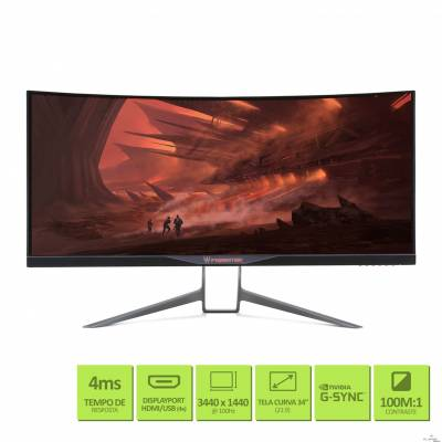 Monitor ACER 34''QHD Curve QHD X34 HDMI DispPort USB 7W VESA
