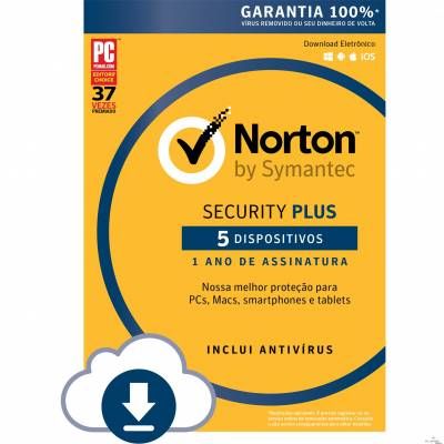 Norton Security Plus 5 dispositivos - ESD 21355187