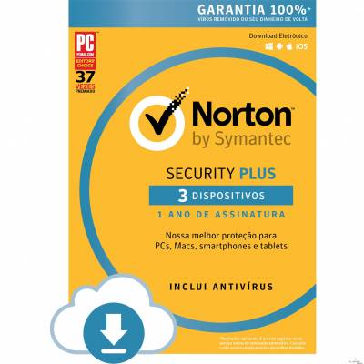 Norton Security Plus 3 dispositivos - ESD 21355186