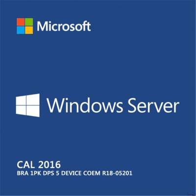 Windows Server Cal 2016 Bra 1PK DPS 5 Device COEM R18-05201